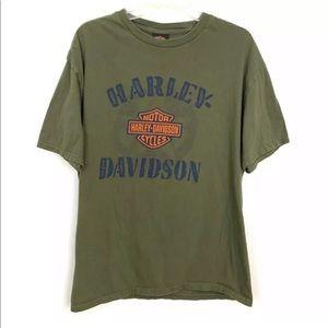 Harley Davidson Green Colorado Springs T-Shirt XXL